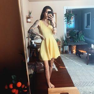 Yellow Skater Dress